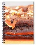 Chocolate Brownie With Nuts Dessert Spiral Notebook