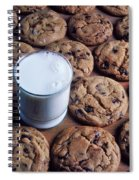 Chocolate Chip Cookies And Glass Of Milk Spiral Notebook