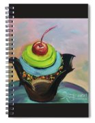 Chocolate Cupcake With Cherry Spiral Notebook
