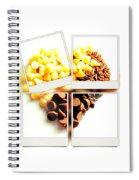 Chocolate Heart Mosaic Spiral Notebook