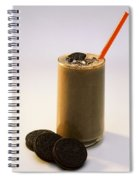 Chocolate Milk With Cookies Spiral Notebook