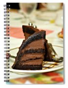 Chocolate Mousse Cake Spiral Notebook