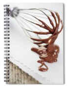 Chocolate Sauce On Whisk Spiral Notebook