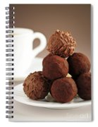 Chocolate Truffles And Coffee Spiral Notebook