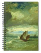 Choppy Sea 1870 Spiral Notebook