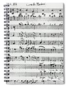 Chorus Of Shepherds, Handwritten Score Of The Opera Ascanio In Alba Spiral Notebook