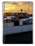 Chris Craft In The Evening  Spiral Notebook