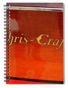 Chris Craft Logo Spiral Notebook