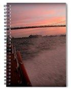 Chris Craft To The Bridge  Spiral Notebook