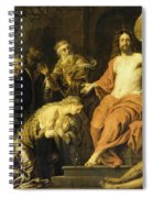 Christ And The Penitent Sinners Spiral Notebook