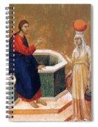Christ And The Samaritan Woman Fragment 1311 Spiral Notebook