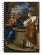 Christ And The Woman Of Samaria Spiral Notebook