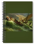 Christ Asleep In His Boat  Spiral Notebook