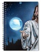 Christ At Night Spiral Notebook