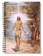 Christ Baptised By John The Baptist Spiral Notebook