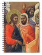 Christ Before Caiaphas Fragment 1311 Spiral Notebook