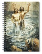 Christ Being Baptised Spiral Notebook