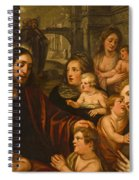 Christ Blessing The Children Spiral Notebook