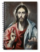 Christ Blessing, The Saviour Of The World Spiral Notebook