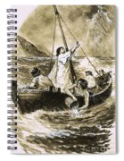 Christ Calming The Storm Spiral Notebook