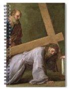 Christ Carrying The Cross Spiral Notebook