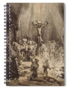 Christ Crucified Between The Two Thieves  The Three Crosses, 1653 Spiral Notebook