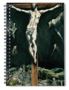 Christ Crucified With Toledo In The Background Spiral Notebook