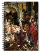 Christ Driving The Merchants From The Temple Spiral Notebook