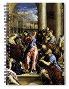 Christ Driving The Traders From The Temple 1576 Spiral Notebook