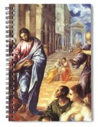 Christ Healing The Blind 1578 Spiral Notebook