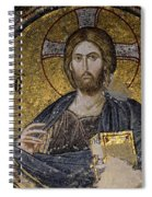 Christ Holds Bible In Mosaic At Chora Church Istanbul Turkey Spiral Notebook