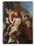 Christ Mourned By Three Angels Spiral Notebook