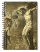 Christ On The Cross And The Good Thief Spiral Notebook
