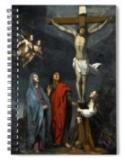 Christ On The Cross With Saint John And Mary Magdalene Spiral Notebook