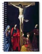 Christ On The Cross With The Virgin Mary Magdalene St John And St Francis Of Paola Spiral Notebook