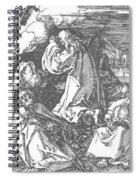 Christ On The Mount Of Olives 1511 Spiral Notebook