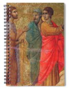 Christ On The Road To Emmaus Fragment 1311 Spiral Notebook