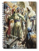 Christ Removing The Money Lenders From The Temple Spiral Notebook