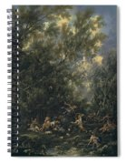 Christ Served By The Angels Spiral Notebook