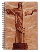 Christ The Redeemer Statue Original Coffee Painting Spiral Notebook
