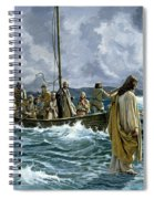Christ Walking On The Sea Of Galilee Spiral Notebook