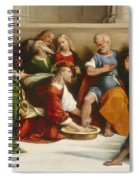 Christ Washing The Disciples' Feet Spiral Notebook