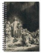 Christ With The Sick Around Him, Receiving Little Children Spiral Notebook