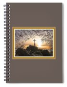 Christellerata L A S With Decorative Ornate Printed Frame. Spiral Notebook