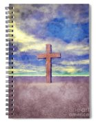 Christian Cross Landscape Spiral Notebook