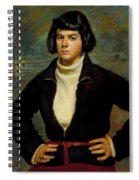 Christian Viasto - A Canal Boat Woman Spiral Notebook