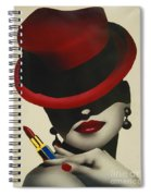 Christion Dior Red Hat Lady Spiral Notebook