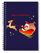 Christmas #3 And Text Spiral Notebook