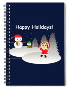 Christmas #6 And Text Spiral Notebook