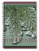 Christmas Arborvitae In Ice Spiral Notebook